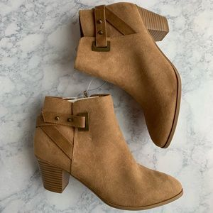 NWT: Diba Suede Tan Ankle Boots